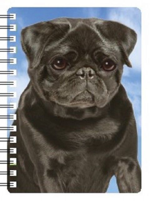 Black Pug 3D Notebook